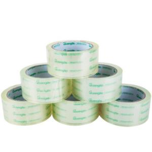广博(GuangBo)6卷装48mm*60y高透明胶带封箱胶布办公文具FX-60 *3件49.86元(合16.62元/件)