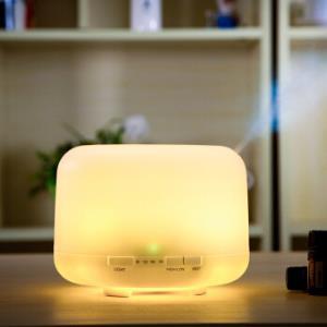 绿之源 超声波精油香薰机暖光款加湿器 家用静音办公室卧室香薰炉空气净化 香薰灯500ml73元