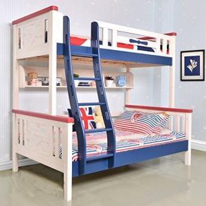 Sampo 松堡王国 北欧松木双层儿童床 环保水性彩色涂料高低床 子母上下床全实木床 SP-AC601S4380元