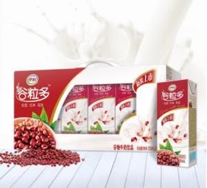 伊利 谷粒多红谷牛奶饮品250ml*12盒/礼盒装(红豆+红米+花生 早餐奶)26.9元