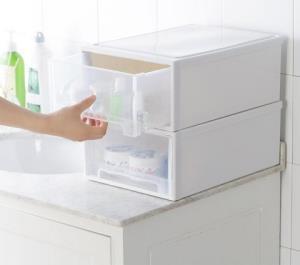 百露抽屉式衣柜收纳箱透明收纳柜塑料衣服衣物整理箱特大号储物箱16元