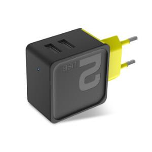 洛克(ROCK)苹果充电器双口手机充电头 适用于iPhoneX/8/7plus/6s/5三星小米华为平板2.4A 欧规 方糖黑色 *2件46.24元(合23.12元/件)