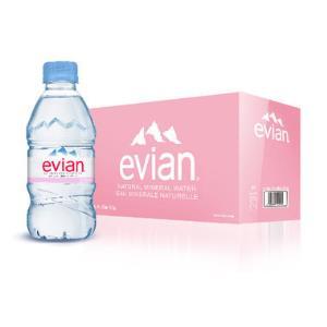 Evian 依云 天然矿泉水 330ml*24瓶/箱装 法国进口 矿泉水 饮用水79元