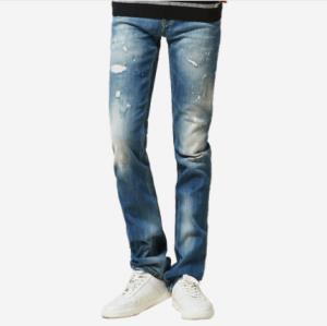 网易严选 男式修身直筒牛仔裤 126元