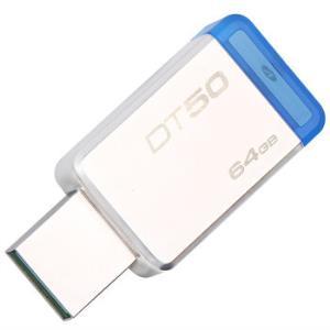 Kingston 金士顿 DT50 USB3.1 金属U盘 64G    69.9元
