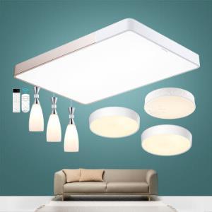 DongDong led吸顶灯 客厅灯卧室灯吊灯现代简约长方形灯具灯饰 遥控调光调色三室两厅套装 雷士照明1099元