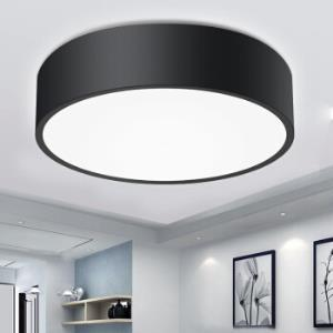雷士(NVC)雷士led客厅灯吸顶灯 北欧现代简约灯长方形圆形大气房间卧室灯具灯饰  黑色 ENKX9093199元