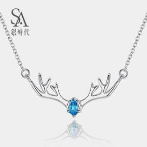 silverage 银时代 S925纯银一鹿有你银项链189元