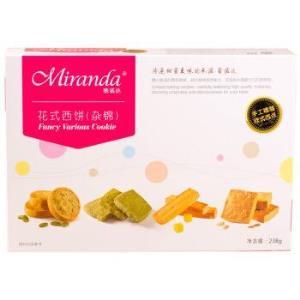 Miranda 蜜诺达 花式早餐西饼零食下午茶曲奇饼干 238g/盒9.9元,可优惠至4.9元/件