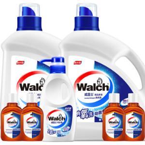 威露士多效洗衣液瓶装套装13.08斤(3kg洗衣液x2、300g内衣净x1,60ml消毒液x4)59.9元