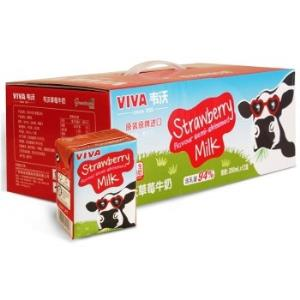 爱尔兰 进口牛奶 韦沃( VIVA)草莓牛奶 中秋送礼 英国学生饮用奶 白领成人风味牛奶 200ML*12 *3件98元(合32.67元/件)