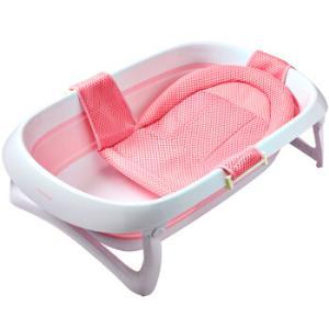 世纪宝贝(babyhood)婴儿洗澡盆浴盆可折叠 宝宝儿童新生儿可用 搭配厚浴垫 感温水塞 粉色  BH-315+212108元