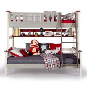 多喜爱AOK 儿童床 松木双层床双人上下铺床成人实木高低子母床 (1.2 * 2.0m,高低床+书架)4498元