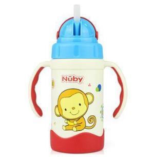 Nuby 努比 不锈钢真空保温吸管杯 长颈鹿 280ml+凑单品50元