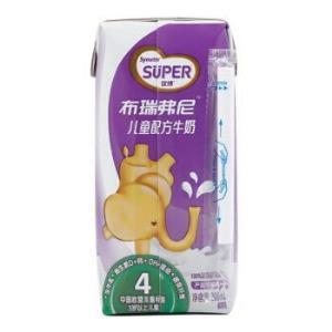 法国原装进口 圣元(Synutra)优博 布瑞弗尼 4段儿童配方牛奶(适合3岁及以上儿童)200ml*12 礼盒装 *3件79.8元(合26.6元/件)