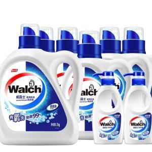 威露士旋净机洗套装16.56斤(2.68kg洗衣液x1、1kg洗衣液x5和300g内衣净x2)71.25元