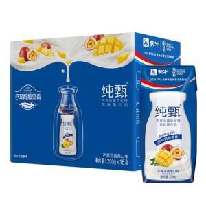 蒙牛 纯甄 常温酸牛奶   芒果百香果口味   200g*16 礼盒装 *3件 142.21元(合47.4元/件)
