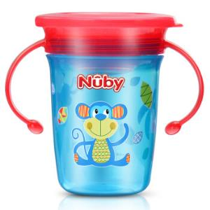 Nuby 努比 360度魔术杯训练杯 240ml 猴子 *3件107元(合35.67元/件)
