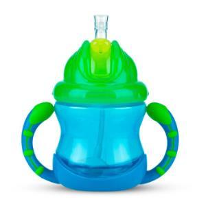 Nuby 努比 儿童重力球吸管学饮杯 蓝色 *2件39.9元(合19.95元/件)