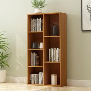 自然故事(ZIRANGUSHI)七格书柜 收纳柜木质储物柜子 书架置物柜 樱桃木色ZR509A *2件149元(合74.5元/件)