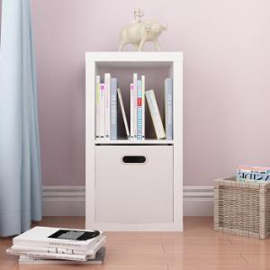 好事达儿童书柜 厚板储物柜 两格柜 收纳置物架 柜子1834 白色不含布抽 *2件179元(合89.5元/件)
