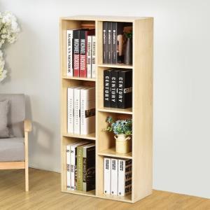 自然故事(ZIRANGUSHI)七格书柜 收纳柜木质储物柜子 书架置物柜ZR0509 *2件149元(合74.5元/件)