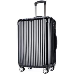 维多利亚旅行者(VICTORIATOURIST)拉杆箱PC+ABS商务旅行箱行李箱男 24英寸万向轮海关锁5518黑色188元