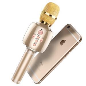 雅兰仕 EARISE H3 手机麦克风无线蓝牙全民K歌宝电容话筒唱吧主播专用 土豪金59元