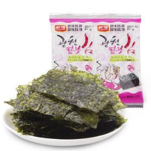 韩国进口 休闲零食 韩福烤紫菜(原味)海苔 海产品 8小包 16g (199-100,折6.55元1件)6.55元