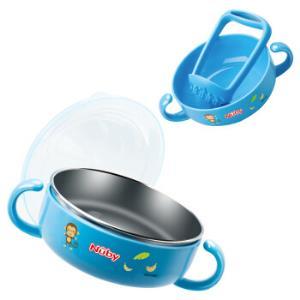 Nuby 努比 婴儿两用不锈钢研磨碗 蓝色 *4件213.6元(合53.4元/件)