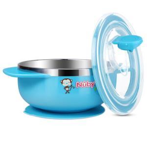Nuby 努比 5572 儿童不锈钢吸盘碗 蓝色34元