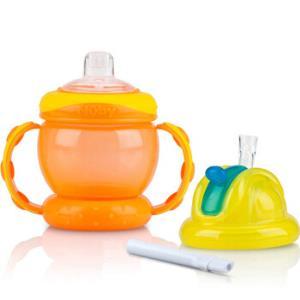 Nuby 努比 儿童双头替换鸭嘴学饮杯 橙色 *3件107元(合35.67元/件)