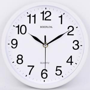 静音精准!铂晨 圆形创意 静音客厅挂钟 9英寸¥9.8