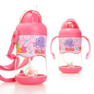 Nuby 努比 Tritan系列 重力球吸管学饮杯  粉色 *2件+凑单品99元(合49.5元/件)