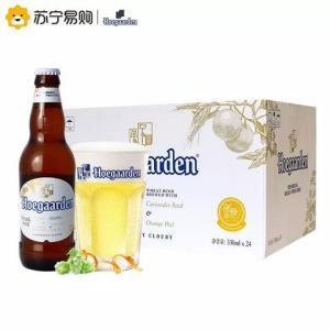 Hoegaarden 福佳 比利时风味 精酿小麦白啤酒 330ML*24 整箱装 *2件236元(合118元/件)