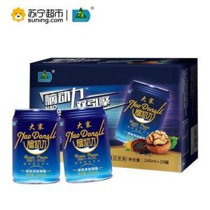 大寨(DAZHAI)脑动力 核桃露 黑芝麻 植物蛋白饮料 240ml*20罐 *7件187.3元(合26.76元/件)