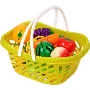 迪士尼 过家家玩具 水果切切乐 切水果玩具小熊维尼豪华果蔬篮SWL-907 *3件107元(合35.67元/件)