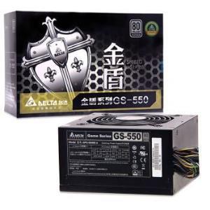 7日0点,DELTA 台达  金盾GS550 额定550W电源 (80PLUS白金牌、12CM静音、支持背线)499元