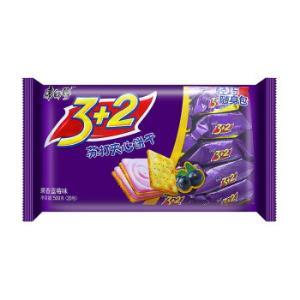 康师傅 3+2 苏打夹心饼干 果香蓝莓味 500g *4件50元(合12.5元/件)