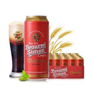 Kaiser Simon 凯撒西蒙 小麦黑啤酒 500ml*24听 *3件 +凑单品180.6元包邮(需用券,合60.2元/件)