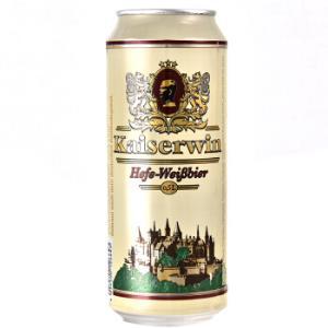 凯撒啤酒 德国原装进口(kaiserwin)全麦白啤酒 整箱装 麦香浓郁 白啤500ml*24听148元