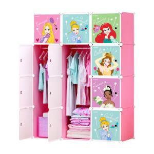 Disney 迪士尼 公主收纳柜 12门6格2挂139元包邮(满减)