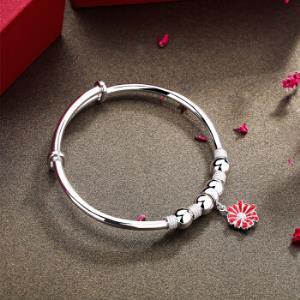 silverage 银时代 S925纯银手镯女款首饰 *3件678元包邮