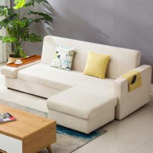 多瓦娜 沙发 布艺可拆洗沙发床 中小户型三人位沙发带搁脚DWN-S0081909元