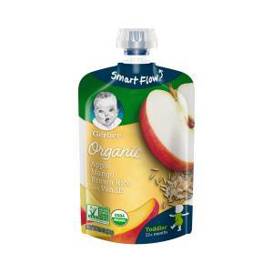 嘉宝(Gerber) 苹果芒果泥配香米香草 12个月以上 99g 23元包税,87元任选4件