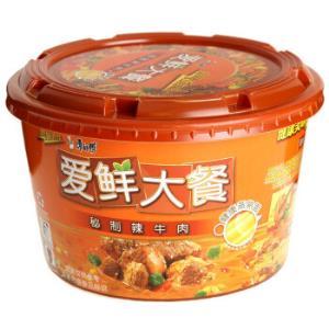 康师傅 方便面(KSF) 爱鲜大餐 秘制辣牛肉面 泡面碗装2.8元