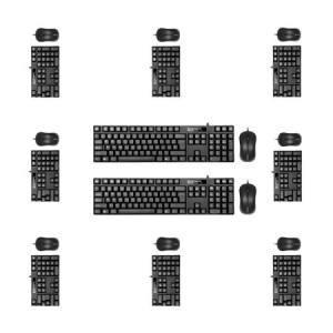 现代HY-MA71 有线键盘鼠标套装台式机专用 键盘PS2鼠标USB黑色  十套装269元