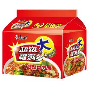 康师傅 超级福满多 红烧牛肉面 五连包7.3元