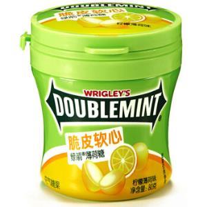 绿箭(DOUBLEMINT)脆皮软心薄荷糖柠檬薄荷味80g单瓶装 *23件 102.4元(合4.45元/件)