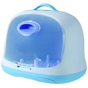 世纪宝贝babyhood 爱婴奶瓶收纳箱宝宝餐具收纳盒箱储存晾干架便携式宝宝收纳盒 天蓝 BH-801 *2件128元(合64元/件)